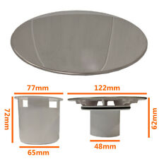 Shower Drain Waste Replacement Chrome Cap Tube Sediment Cup for 90mm Tray Hole