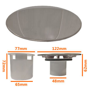 120mm Shower Drain Waste Replacement Chrome Cap Tube Sediment Cup 90mm Tray Hole