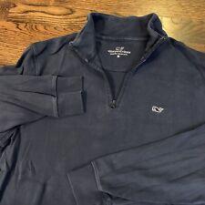 Vineyard Vines Pima Cotton Quarter Zip - Men's Medium Navy Blue