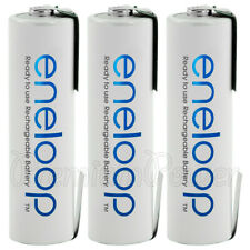 3 x Panasonic eneloop AA batteries U-SHAPED Solder Tabs HR6 1.2V 1900mAh NiMH