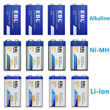 EBL 9V 6F22 Rechargeable 280/600mAh / Non-rechargeable Alkaline 6LR6 9V Battery