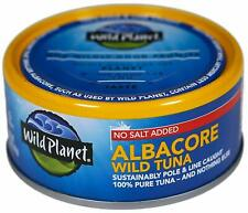 12 cans  Wild Planet Wild Albacore Tuna, No Salt Added, Keto and Paleo 5oz