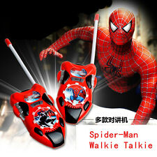 Fun Spider-Man Figures Walkie Talkie Two-Way Radio Phone Kids Boy Girl Toy Gift