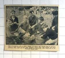 1963 St Ives Boys, Kevin Dredge, Kevin Sheldrake, Pulling Potatoes Lanhydrock