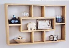 Stylish And Attractive Space Saving Multi-Compartment Wall Shelf -Oak