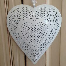 Shabby Chic Large Filigree Decorative Hanging Heart