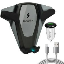 Boslisa ANU-C1802 Wireless Fast Charging Car Air Vent Mount for Qi-Compatible