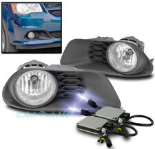 11-16 DODGE GRAND CARAVAN BUMPER DRIVING FOG LIGHTS LAMPS CHROME W/10K HID+BEZEL