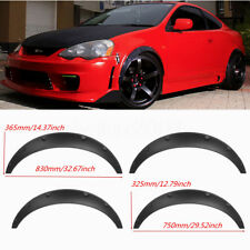 Universal Fender Flares 4 Pieces Flexible Yet Durable Polyurethane Black PU