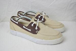Vintage 90s POLO Ralph Lauren Lander Boat Style Sneakers 9.5 Brown VTG