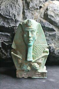 Egyptian Pharoah Stone Sculpture / amulet