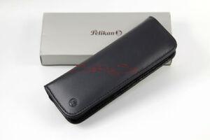Pelikan Fountain Pen,Ballpoint Pen 2er Pens Case Nappa Leather Black New
