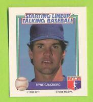 1988 Starting lineup Talking Baseball - Ryne Sandberg  Chicago Cubs