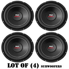 "Lot of (4) New Pyle PLPW10D 10"" 2000 Watt Dual Voice Coil, 4 Ohm Subwoofers"