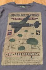 Landing Beaches Operation Overlord Normady D-Day T-Shirt Size Men's Large