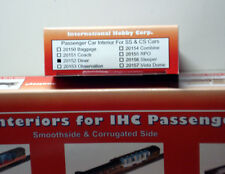 HO TRAIN IHC #20152 SMOOTH OR CORRUGATED DINER PASSENGER CAR INTERIOR. SEALED
