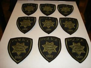 Lot of 9 Pittsburg California Swat Subdued Police Patches New