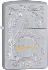 Zippo Choice Engraved Gold Script WindProof Lighter Satin Chrome 29512 NEW L@@K