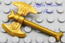 NEW Lego Ninjago Ninja Minifig GOLDEN BONE AXE - Skeleton Minifigure Gold Weapon