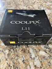 Nikon COOLPIX L11 6.0MP Digital Camera - Matte black