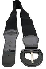 Women Trendy Belt Adjustable Waist Stretch Plain Black Round Buckle Plus Size