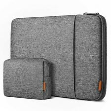 For 15.4-16 Inch MacBook Pro Laptop Sleeve Case Bag with Accessory Pouch - Gray