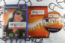 PLAY STATION 2 PS2 SINGSTAR POP 2009 MUY BUEN ESTADO PAL ESPAÑA