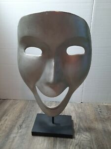 COMEDY Theatre Drama Face statuette metal display piece made in India