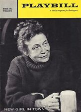 "Thelma Ritter ""NEW GIRL IN TOWN"" Bob Fosse / Bob Merrill 1957 Broadway Playbill"