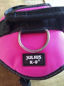 PINK JULIUS-K9 REFLECTIVE  DOG HARNESS SIZE MEDIUM