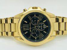 Michael Kors Bradshaw Chronograph MK5739 Gold Case Black Dial Ladies Watch (17E)