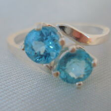 Apatite Sterling Silver 'Twin' Ring