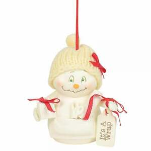 Department 56 Snowpinions Its A Wrap Hanging Ornament New 6003279