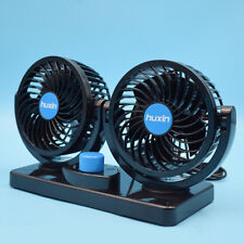 Low Noise DC 12V Dual Fan 360° Rotating Mini  Auto Car Air Cooling Fan Cooler