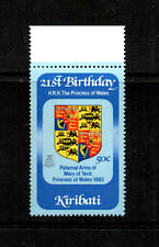 Kiribati 1982 Diana 21st Birthday 50c Inverted Watermark Superb MNH