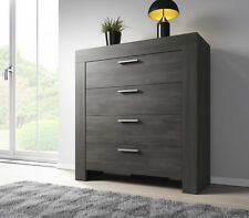 Chest of Drawers Rome 100 cm Black Oak