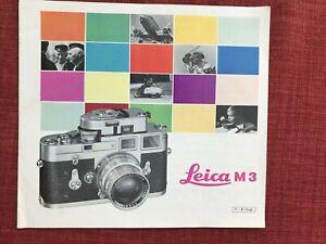 Vintage Leica M3 Leaflet
