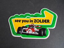 Sticker autocollant : See you in Zolder