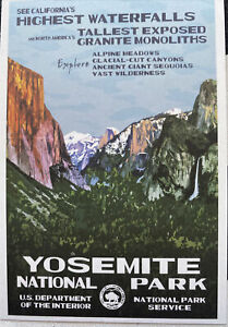Yosemite National Park WPA Style Postcard
