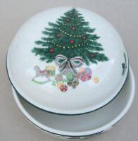 Mikasa Candy Box Lidded Trinket Christmas Story CAB08 Tree Gifts Holly Ceramic