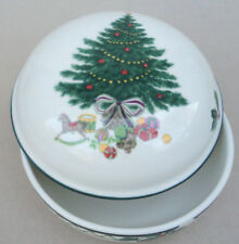 Mikasa Candy Box Lidded Trinket Christmas Story CAB08 Tree Gifts Holly Ceramic