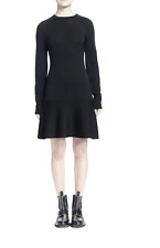 NWT $1085 Balenciaga Staple-Trimmed Flounce Sweaterdress Size 36