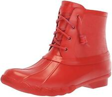 Sperry Women's Saltwater Rubber Flooded Rain Red Boot Size 9.5 US 40.5 EU NEW