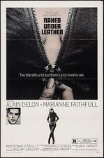 GIRL ON A MOTORCYCLE/NAKED UNDER LEATHER 1 sheet poster (27x41) DELON FAITHFULL
