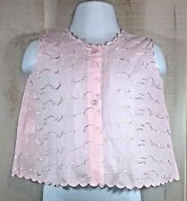 Ralai Girls Pink Embroidered Eyelet Top Shirt Sleeveless One Size