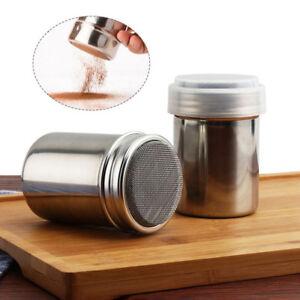 Stainless Steel Chocolate Shaker Icing Sugar Powder Flour Coffee Gffa New