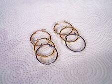 Set of Silver,Yellow GP,Rose GP Stainless Steel 25mm High Polished Hoop Earrings