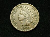 SUMMER SALE!!  XF 1902 INDIAN HEAD CENT PENNY w/DIAMONDS & FULL LIBERTY #68c
