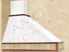 Cappa Tecnodesign Trapezio Cm.120 legno grezzo 1 motore 500 m3/h  Punta DX