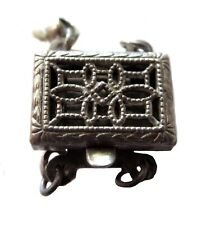 STERLING Silver Filigree VINTAGE Necklace Clasp